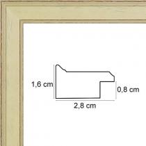 profil cadre photo ivoire filet marron