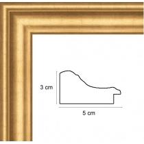 profil cadre photo or renverse doré