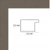 profil cadre photo plat gris souris