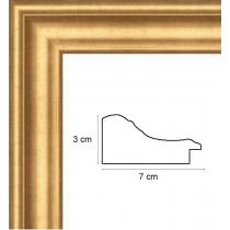 profil cadre photo large or renverse doré