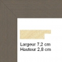 profil cadre photo large plat gris