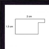 Cadre photo plat noir largeur 2 cm
