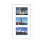 Cadre en bois arrondi blanc 2 cm multivues 3 photos 15x10 ou 10x15
