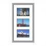 Cadre en bois arrondi gris 2 cm multivues 3 photos 15x10
