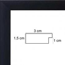 profil cadre photo noir satiné