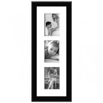 Cadre bois laqué noir 1,5cm multivues 3 photos 10x15 ou 15x10