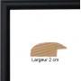 Cadre en bois multivues 3 photos 10x15 arrondi noir 2 cm