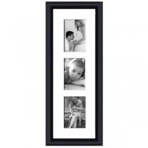 Cadre en bois arrondi noir 2 cm multivues 3 photos 10x15 ou 15x10