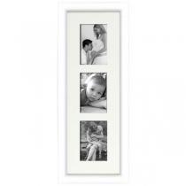 Cadre bois arrondi blanc 2 cm multivues 3 photos 10x15 ou 15x10