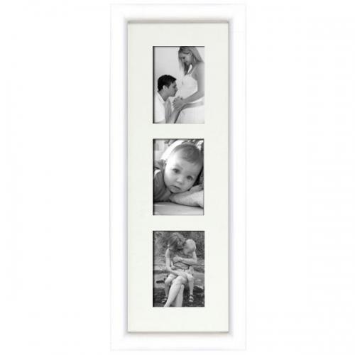 cadre en bois arrondi blanc 2 cm multivues 3 photos 10 x 15 ou 15 x 10. Black Bedroom Furniture Sets. Home Design Ideas