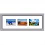 Cadre bois arrondi gris 2 cm multivues 3 photos 10x15