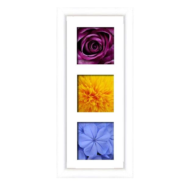 cadre en bois arrondi blanc 2 cm multivues 3 photos 14 x 14. Black Bedroom Furniture Sets. Home Design Ideas