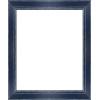 Cadre Photo Bleu Bords Usés