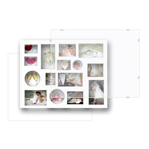 p le m le 15 photos multi format avec sous verre pince. Black Bedroom Furniture Sets. Home Design Ideas