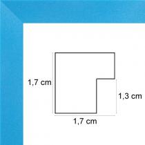 profil cadre photo cadre plat bleu mat
