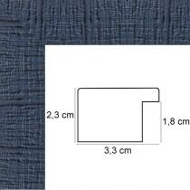 profil cadre photo bleu marine strié