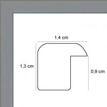 profil cadre photo plat laqué gris