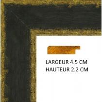 profil cadre photo marron doré