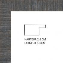 profil cadre photo gris strié