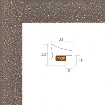 profil cadre photo marron tacheté blanc