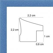profil cadre photo bleu tacheté blanc