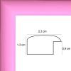 profil cadre photo plat laqué rose