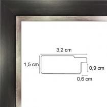 profil cadre photo noir bord argent