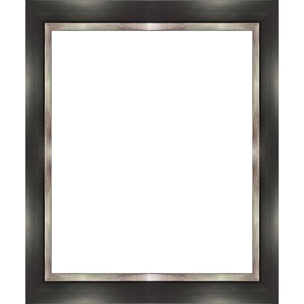 cadre photo noir bord argent largeur de 3 2 cm cadre. Black Bedroom Furniture Sets. Home Design Ideas