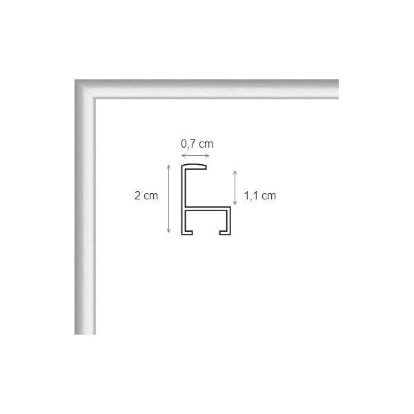 cadre photo sur mesure en aluminium argent avec plexiglas et dos sur cadre. Black Bedroom Furniture Sets. Home Design Ideas