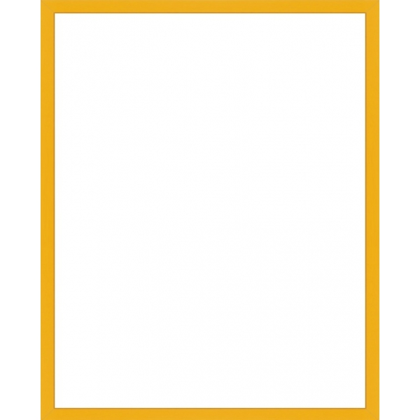 cadre photo sur mesure en aluminium jaune avec plexiglas