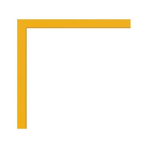 cadre pour poster sur mesure en aluminium jaune avec plexiglas et dos sur cadre. Black Bedroom Furniture Sets. Home Design Ideas