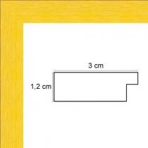 Cadre Photo Plat Strié jaune Largeur 3 cm