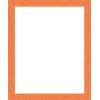 Cadre Photo Plat Strié Orange Largeur 3 cm