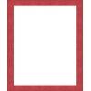 cadre photo plat strié rouge