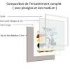 cadre photo complet avec plexi et dos