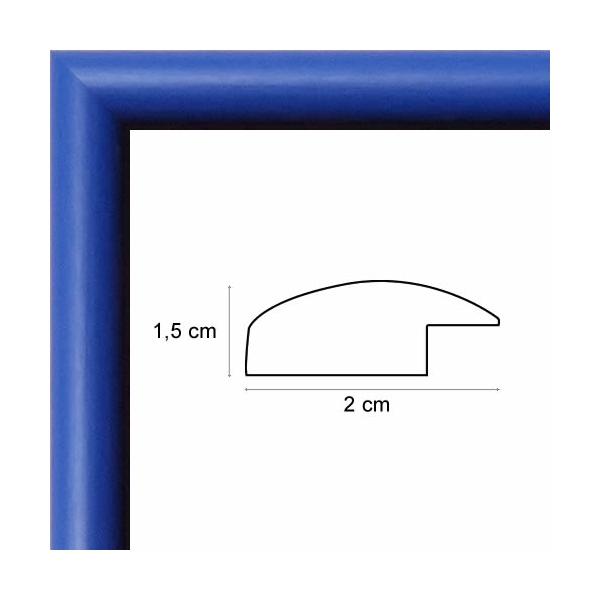 Encadrement Photo Arrondi Bleu Roi De 2 Cm - Votre Cadre Photo
