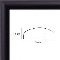 profil cadre photo arrondi noir