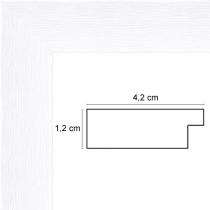 profil cadre photo blanc strié