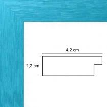 profil cadre photo bleu turquoise strié