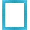 cadre photo bleu turquoise strié