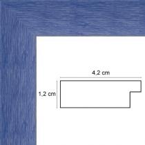 profil cadre photo bleu strié