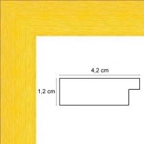 profil cadre photo jaune strié