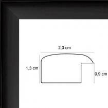 profil cadre photo plat laqué noir