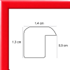 profil cadre photo plat laqué rouge