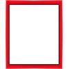 cadre photo plat laqué rouge