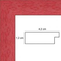 profil cadre photo rouge strié