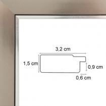 profil cadre photo plomb bord argent