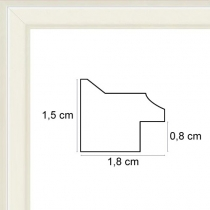 profil cadre photo plat mat blanc