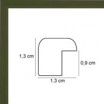 profil cadre photo plat laqué vert kaki