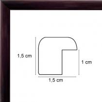 profil cadre photo verni marron foncé